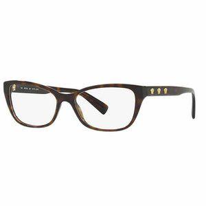 Versace Cat Eye Eyeglasses Dark Havana W/D…